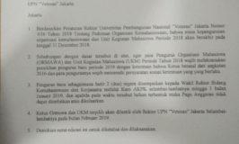 Tindak Lanjut Rektorat Terkait Peraturan Ketua Ormawa dan UKM
