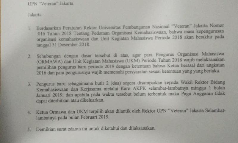 Generalisasi Peraturan Rektor Terkait Ketua Ormawa dan UKM Mengandung Cacat Nalar