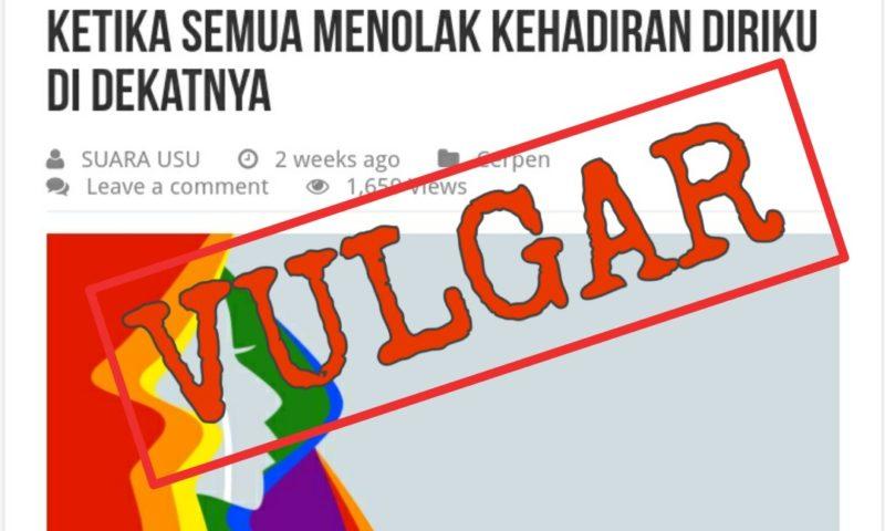 Jajaran Redaksi LPM SUARA USU Dipecat Rektor Usai Memosting Cerpen LGBT