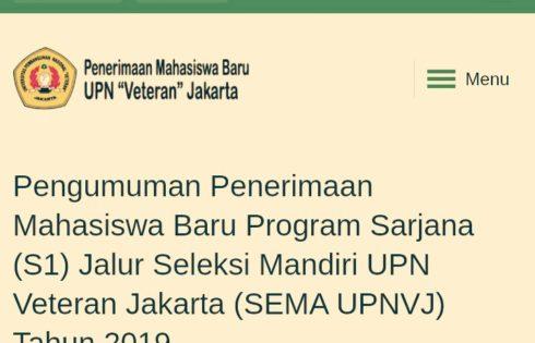Menyoal Kriteria Baru di Jalur Prestasi Seleksi Mandiri UPNVJ